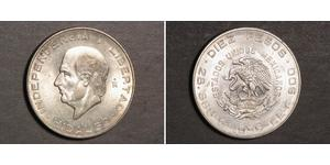 5 Peso Second Federal Republic of Mexico (1846 - 1863) 銀 Miguel Hidalgo