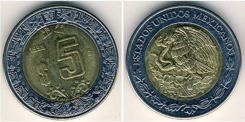 5 Peso United Mexican States (1867 - ) Bimetal