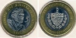 5 Peso Kuba Bimetall