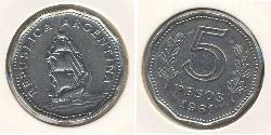 5 Peso Argentine Republic (1861 - ) Copper/Nickel