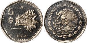 5 Peso United Mexican States (1867 - ) Copper/Nickel