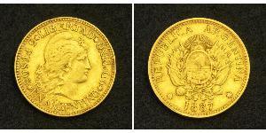 5 Peso Argentine Republic (1861 - ) Gold