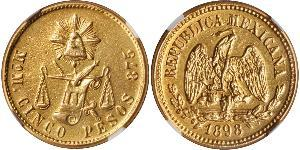 5 Peso Mexiko (1867 - ) Gold