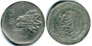 5 Peso Mexiko (1867 - ) Kupfer/Nickel