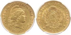 5 Peso Argentinien (1861 - ) Or