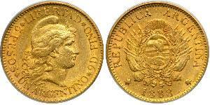 5 Peso Argentina (1861 - ) Oro
