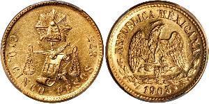 5 Peso México (1867 - ) Oro