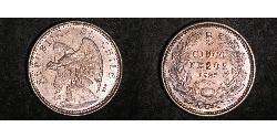5 Peso Chile Silber