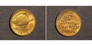 5 Pfennig 但澤自由市 (1920 - 1939) 青铜/铝