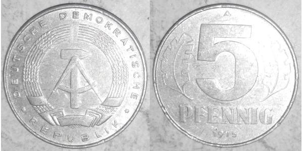 5 Pfennig República Democrática Alemana (1949-1990) Aluminio