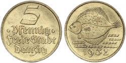 5 Pfennig Gdansk (1920-1939) Bronze/Aluminium