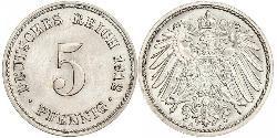 5 Pfennig German Empire (1871-1918) Copper/Nickel
