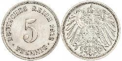 5 Pfennig Deutsches Kaiserreich (1871-1918) Kupfer/Nickel