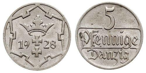 5 Pfennig 但澤自由市 (1920 - 1939)