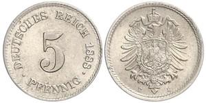 5 Pfennig 德意志帝國 (1871 - 1918)