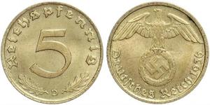 5 Pfennig 納粹德國 (1933 - 1945)