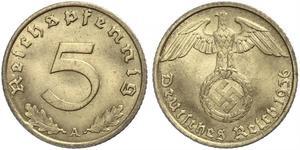 5 Pfennig Alemania nazi (1933-1945)
