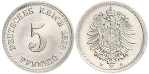 5 Pfennig Empire allemand (1871-1918)