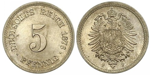 5 Pfennig Empire allemand (1871-1918)