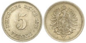 5 Pfennig German Empire (1871-1918)
