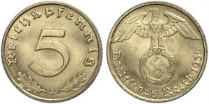 5 Pfennig Germania nazista (1933-1945)