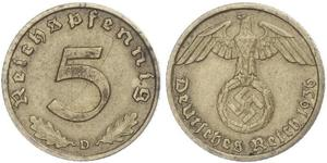 5 Pfennig Nazi Germany (1933-1945)