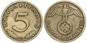 5 Pfennig Troisième Reich (1933-1945)