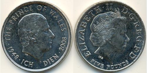 5 Pound 2008 United Kingdom (1922-) Copper/Nickel Elizabeth