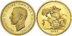 5 Pound Vereinigtes Königreich (1922-) Gold Georg VI (1895-1952)