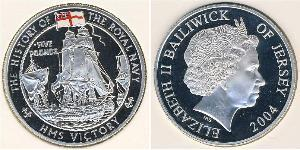 5 Pound Jersey Plata Isabel II (1926-)