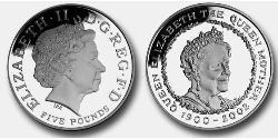 5 Pound Vereinigtes Königreich (1922-) Silber Elizabeth II (1926-)