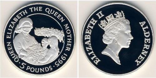 5 Pound  Silver Elizabeth II (1926-)