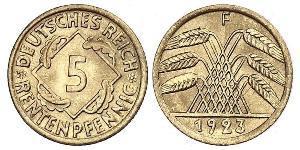 5 Reichpfennig 魏瑪共和國 (1919 - 1933) 黃銅