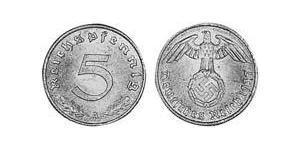 5 Reichpfennig Troisième Reich (1933-1945) Bronze/Aluminium