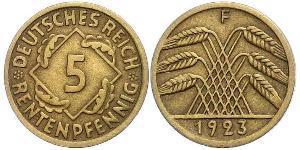 5 Reichpfennig République de Weimar (1918-1933) Laiton