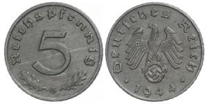 5 Reichpfennig Germania nazista (1933-1945) Zinco