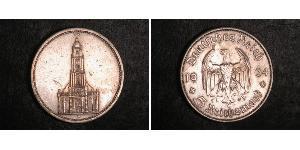 5 Reichsmark 納粹德國 (1933 - 1945) 銀