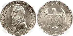 5 Reichsmark 魏瑪共和國 (1919 - 1933) 銀