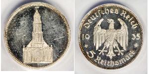 5 Reichsmark Germania nazista (1933-1945) Argento