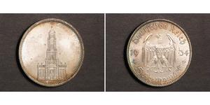 5 Reichsmark Alemania nazi (1933-1945) Plata