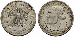 5 Reichsmark Deutsches Reich (1933-1945) Silber Martin Luther