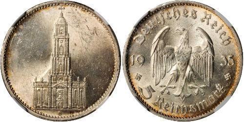 5 Reichsmark Deutsches Reich (1933-1945) Silber