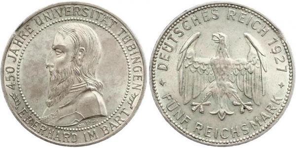 5 Reichsmark Weimar Republic (1918-1933) Silver