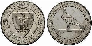 5 Reichsmark 魏瑪共和國 (1919 - 1933)