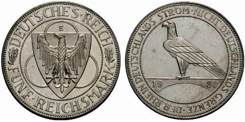 5 Reichsmark Repubblica di Weimar (1918-1933)