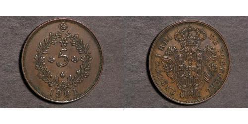 5 Reis 葡萄牙王國 (1139 - 1910) / 亚速尔群岛 銅