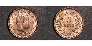 5 Reis Kingdom of Portugal (1139-1910) Copper/Nickel Carlos I of Portugal (1863-1908)