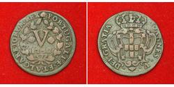 5 Reis Kingdom of Portugal (1139-1910) Kupfer