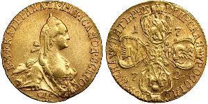 5 Rubel Russisches Reich (1720-1917) Gold Katharina II (1729-1796)