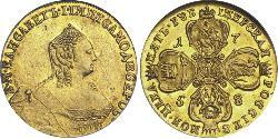 5 Ruble Russian Empire (1720-1917) Gold Jelisaweta I Petrowna (1709-1762)
